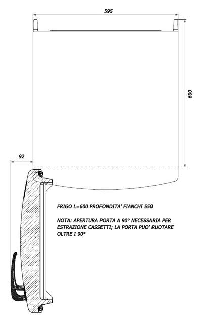 frigorifero cerniere a sinistra