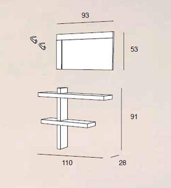 scheda tecnica composizione sandy 515