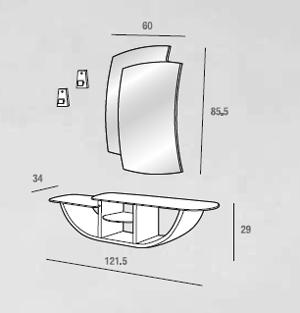 scheda tecnica composizione gondola 520
