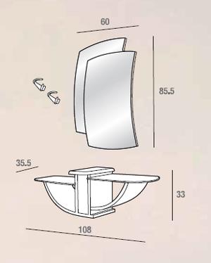 scheda tecnica composizione gondola 521