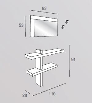 scheda tecnica composizione sandy 530