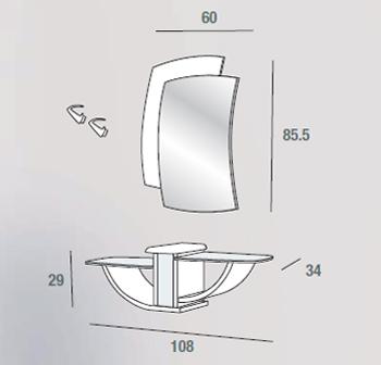 scheda tecnica composizione gondola 670