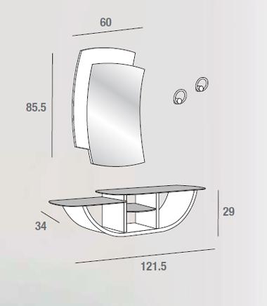 scheda tecnica composizione gondola 671