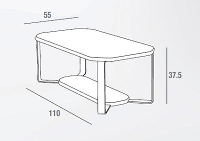 scheda tecnica tavolino aurora frassino
