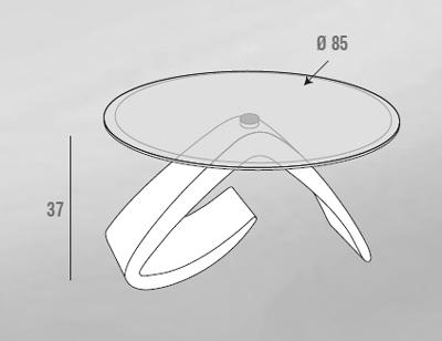 scheda tecncia tavolino cinzia