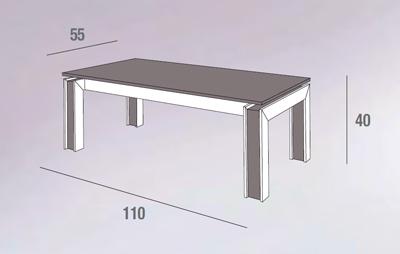 scheda tecnica tavolino Letizia rovere