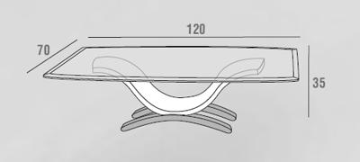 scheda tecnica tavolino susy