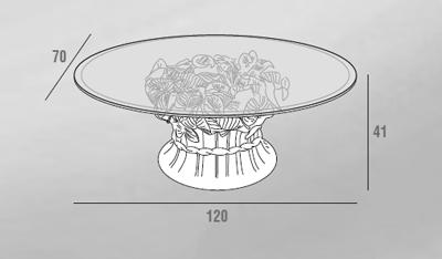 scheda tecnica tavolino veronica
